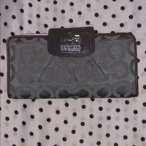 Vintage Coach wallet with checkbook insert